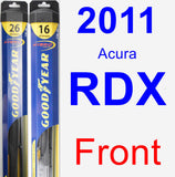 Front Wiper Blade Pack for 2011 Acura RDX - Hybrid