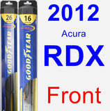 Front Wiper Blade Pack for 2012 Acura RDX - Hybrid