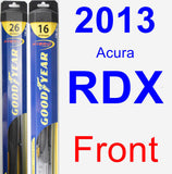 Front Wiper Blade Pack for 2013 Acura RDX - Hybrid