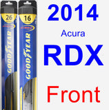 Front Wiper Blade Pack for 2014 Acura RDX - Hybrid
