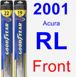 Front Wiper Blade Pack for 2001 Acura RL - Hybrid