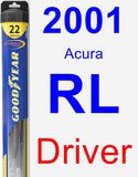 Driver Wiper Blade for 2001 Acura RL - Hybrid