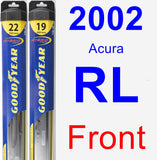 Front Wiper Blade Pack for 2002 Acura RL - Hybrid
