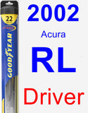 Driver Wiper Blade for 2002 Acura RL - Hybrid