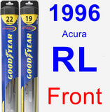 Front Wiper Blade Pack for 1996 Acura RL - Hybrid