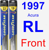 Front Wiper Blade Pack for 1997 Acura RL - Hybrid