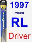 Driver Wiper Blade for 1997 Acura RL - Hybrid