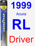 Driver Wiper Blade for 1999 Acura RL - Hybrid