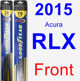 Front Wiper Blade Pack for 2015 Acura RLX - Hybrid