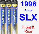 Front & Rear Wiper Blade Pack for 1996 Acura SLX - Hybrid