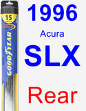 Rear Wiper Blade for 1996 Acura SLX - Hybrid