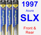 Front & Rear Wiper Blade Pack for 1997 Acura SLX - Hybrid