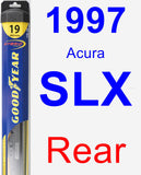 Rear Wiper Blade for 1997 Acura SLX - Hybrid