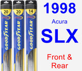 Front & Rear Wiper Blade Pack for 1998 Acura SLX - Hybrid