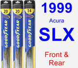 Front & Rear Wiper Blade Pack for 1999 Acura SLX - Hybrid