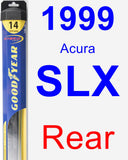 Rear Wiper Blade for 1999 Acura SLX - Hybrid