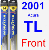 Front Wiper Blade Pack for 2001 Acura TL - Hybrid