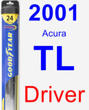 Driver Wiper Blade for 2001 Acura TL - Hybrid