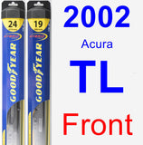 Front Wiper Blade Pack for 2002 Acura TL - Hybrid