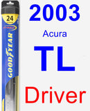 Driver Wiper Blade for 2003 Acura TL - Hybrid
