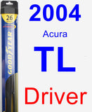 Driver Wiper Blade for 2004 Acura TL - Hybrid