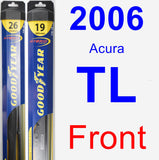 Front Wiper Blade Pack for 2006 Acura TL - Hybrid