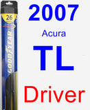 Driver Wiper Blade for 2007 Acura TL - Hybrid