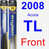 Front Wiper Blade Pack for 2008 Acura TL - Hybrid