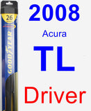 Driver Wiper Blade for 2008 Acura TL - Hybrid