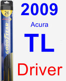 Driver Wiper Blade for 2009 Acura TL - Hybrid