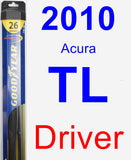 Driver Wiper Blade for 2010 Acura TL - Hybrid