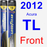 Front Wiper Blade Pack for 2012 Acura TL - Hybrid