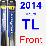 Front Wiper Blade Pack for 2014 Acura TL - Hybrid
