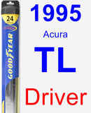 Driver Wiper Blade for 1995 Acura TL - Hybrid