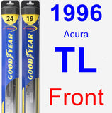Front Wiper Blade Pack for 1996 Acura TL - Hybrid