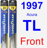 Front Wiper Blade Pack for 1997 Acura TL - Hybrid