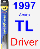 Driver Wiper Blade for 1997 Acura TL - Hybrid