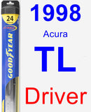 Driver Wiper Blade for 1998 Acura TL - Hybrid