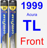 Front Wiper Blade Pack for 1999 Acura TL - Hybrid