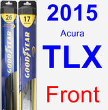 Front Wiper Blade Pack for 2015 Acura TLX - Hybrid