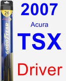 Driver Wiper Blade for 2007 Acura TSX - Hybrid