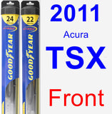 Front Wiper Blade Pack for 2011 Acura TSX - Hybrid