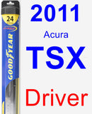 Driver Wiper Blade for 2011 Acura TSX - Hybrid