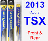 Front & Rear Wiper Blade Pack for 2013 Acura TSX - Hybrid