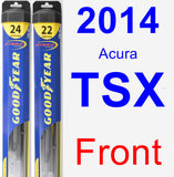 Front Wiper Blade Pack for 2014 Acura TSX - Hybrid