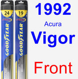 Front Wiper Blade Pack for 1992 Acura Vigor - Hybrid