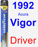 Driver Wiper Blade for 1992 Acura Vigor - Hybrid