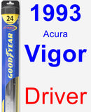 Driver Wiper Blade for 1993 Acura Vigor - Hybrid