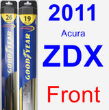 Front Wiper Blade Pack for 2011 Acura ZDX - Hybrid