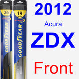 Front Wiper Blade Pack for 2012 Acura ZDX - Hybrid